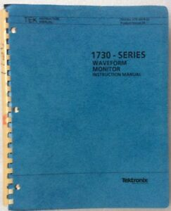 tektronix-1730-Waveform-Monitor-Instruction-Manual