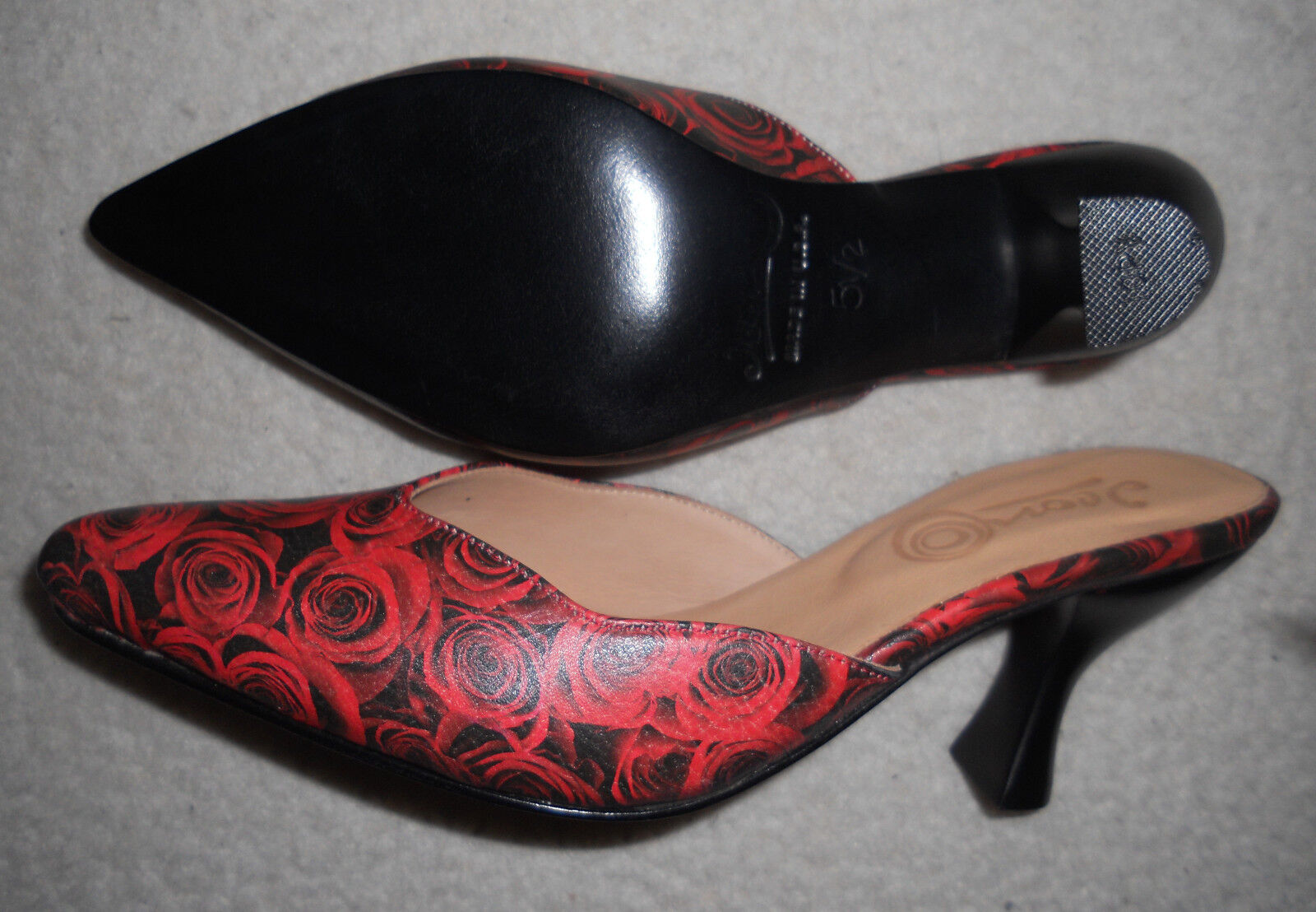 NIB Leather Icon Roses Art Shoes Roses Icon Open Back Heel Slide 5.5 M Sugar-5 $250 43f7b7