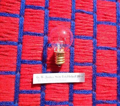 BOX of 25~ CLEAR movie marquee sign LIGHT bulb 10w globe G12.5 candelabra E12