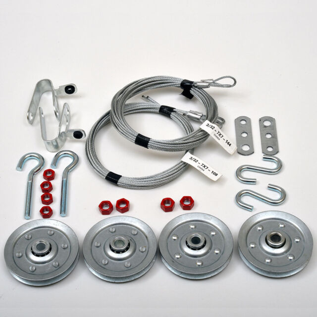 Garage Door Extension Spring Containment Hardware Kit (7' Door)