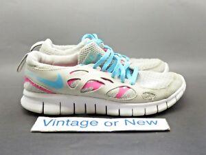 half off 0e576 4473e Image is loading Girls-Nike-Free-Run-2-Platinum-Pink-Flash-