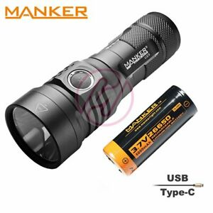 MANKER-U23-Cree-XHP50-2-LED-Rechargeable-USB-C-Torch-26650-5000mAh