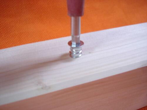36 Stück Eindrehmuffen Einschraubmuffen mit Abdeckrand M 6 x13 Innensechskant zn