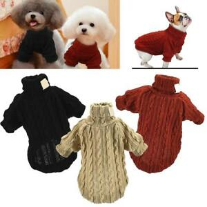 Pet-Dog-Knitwear-Chihuahua-Clothes-Coat-Winter-Sweater-Puppy-POLO-Neck-Jumper