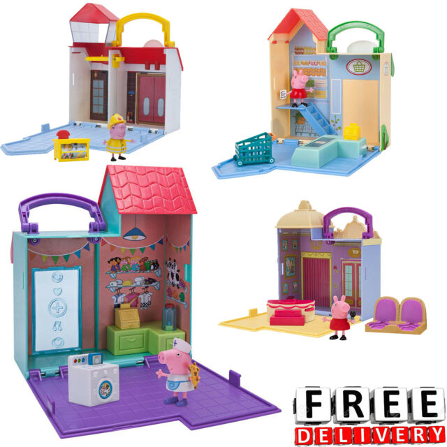 Gift New Boys Girls Kids Toy Peppa Pig Deluxe House Playset Over 15 Play Pieces