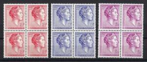 Luxembourg-1960-Sc-363-67-Grand-Duchess-Charlotte-blocks-4-MNH