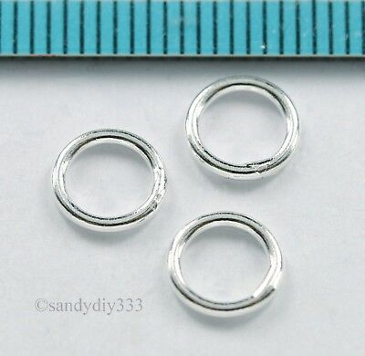20x STERLING SILVER ROUND CLOSED SOLDERED JUMP RING 5mm 0.7mm 21GA N072