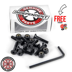Independent-Trucks-Hardware-Bolts-All-Sizes-Black