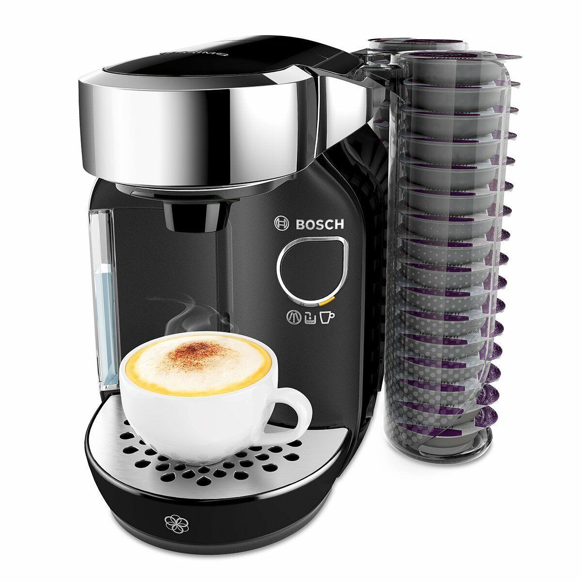 Bosch TAS7002 Independiente 1.2L noir - Cafetera Cápsula de café, noir 1300W