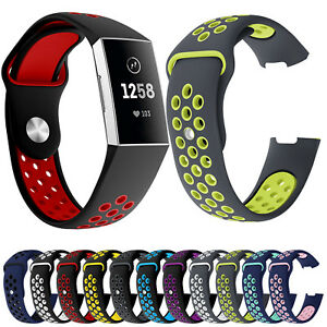 Dual-Colors-Silicone-Sport-Band-for-Fitbit-Charge-3-Charge-4-Smart-Watch-Strap