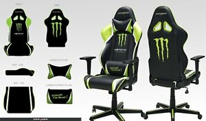 DXRacer Gaming Chair - Limited Monster Energy edition