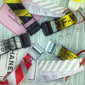 OFF-WHITE-Tie-Down-Big-IRON-Head-Industrial-Belt-200cm-UK-SELLER-Fast-Delivery