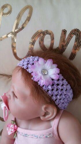BABY GIRL //CHILD 2 INCH DAISY FLOWER CROCHET HEADBAND MANY COLOURS