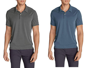 NEW-Eddie-Bauer-Men-039-s-Contour-Performance-Slub-Polo-Shirt