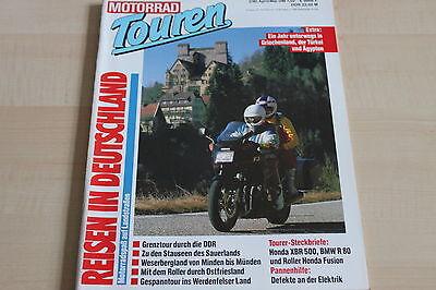 Motorrad Touren 02/1990 Honda Xbr 500 152506 Bmw R 80 Honda Fusion