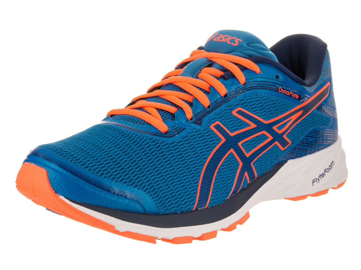 Asics Men's Dynaflyte Electric bluee Indigo bluee Hot orange Running shoes 7.5 Men