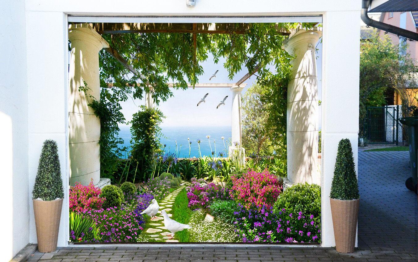 3D Garden Scenery Garage Door Murals Wall Print Decal Wall Deco AJ WALLPAPER IE