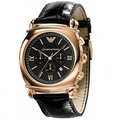 EX DISPLAY EMPORIO ARMANI AR0321 MENS ROSE GOLD WATCH