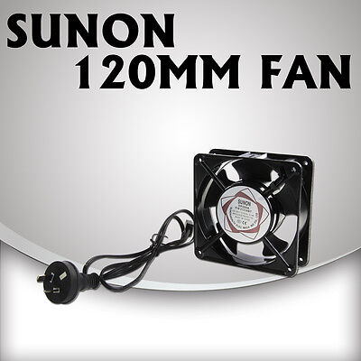 120mm Sunon Fan 240V with leads for Ventilation in Hydroponic Grow Tent