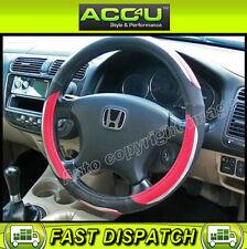 Red Black Chrome Look Luxury Car Steering Wheel Cover