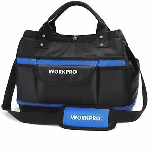 """WORKPRO Garden Tool Bag 15"""" Top Open Wide Mouth Multi-Use Garden Tool Tote New"""
