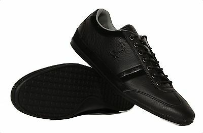 NIB Lacoste Misano 36 Men's Casual Fashion Sneakers Leather / Suede Black