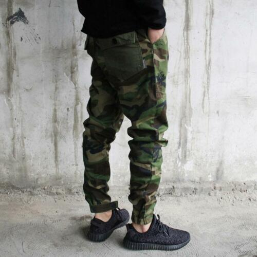 Camo Men/'s Skinny Casual Overall Cargo Slim Fit Camouflage Trouser Pocket Pants