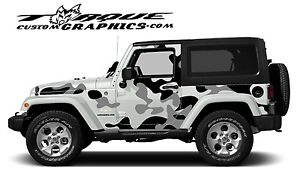 Urban Camo 2 Door Vinyl Decal Set For Jeep Wrangler