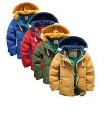 Boys Winter Coat Warm Hooded School Puffer Parka Casual Long Age Size 2 - 10 Yrs