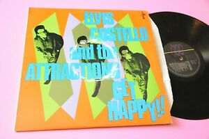 Elvis Costello And Attractions LP Get Happy Orig UK 1980 EX