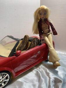 MY-RIDE-MY-SCENE-DOLL-BARBIE-CAR-CONVERTIBLE-Red-2002-amp-My-Scene-Kennedy-Doll