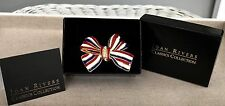 Joan Rivers NEW IN BOX Enamel and Pave' RWB Patriotic Bow Pin Brooch  RETIRED
