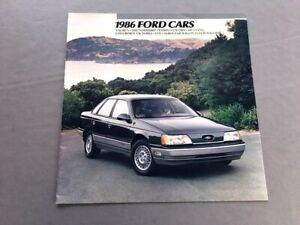 1986-Ford-16-page-Car-Sales-Brochure-Catalog-Thunderbird-Mustang-GT-EXP-Escort
