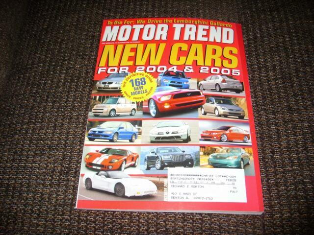 MOTOR TREND MAGAZINE OCTOBER 2003