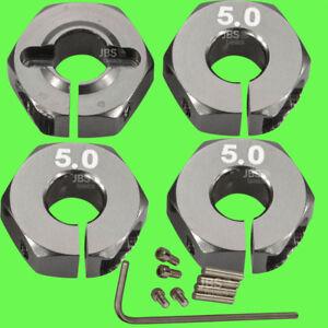 1-10-ALU-5mm-GRAU-Radmitnehmer-Rad-Adapter-12mm-Hex-Sechskant-Reifen-Tuning