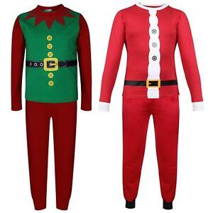 arriva a91b4 308d5 Dettagli su Bambine Ragazzi Natale Babbo Natale & Elf Costume Natale  Pigiami Pigiameria 2-1