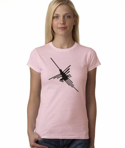 Hot4TShirts Nazca Lines Hummingbird Peru T-Shirt For Juniors
