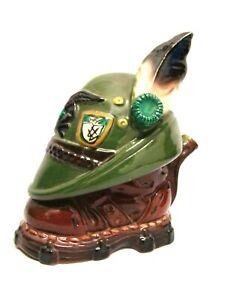 Ceramica-Italiano-Alpino-Botella-Vintage-Anos-039-50-Sombrero-Zapato-Estatuilla