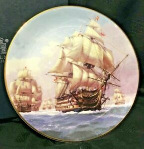 HMS-Victory-Leading-The-Line-Royal-Mint-Collector-Plate-c-2004