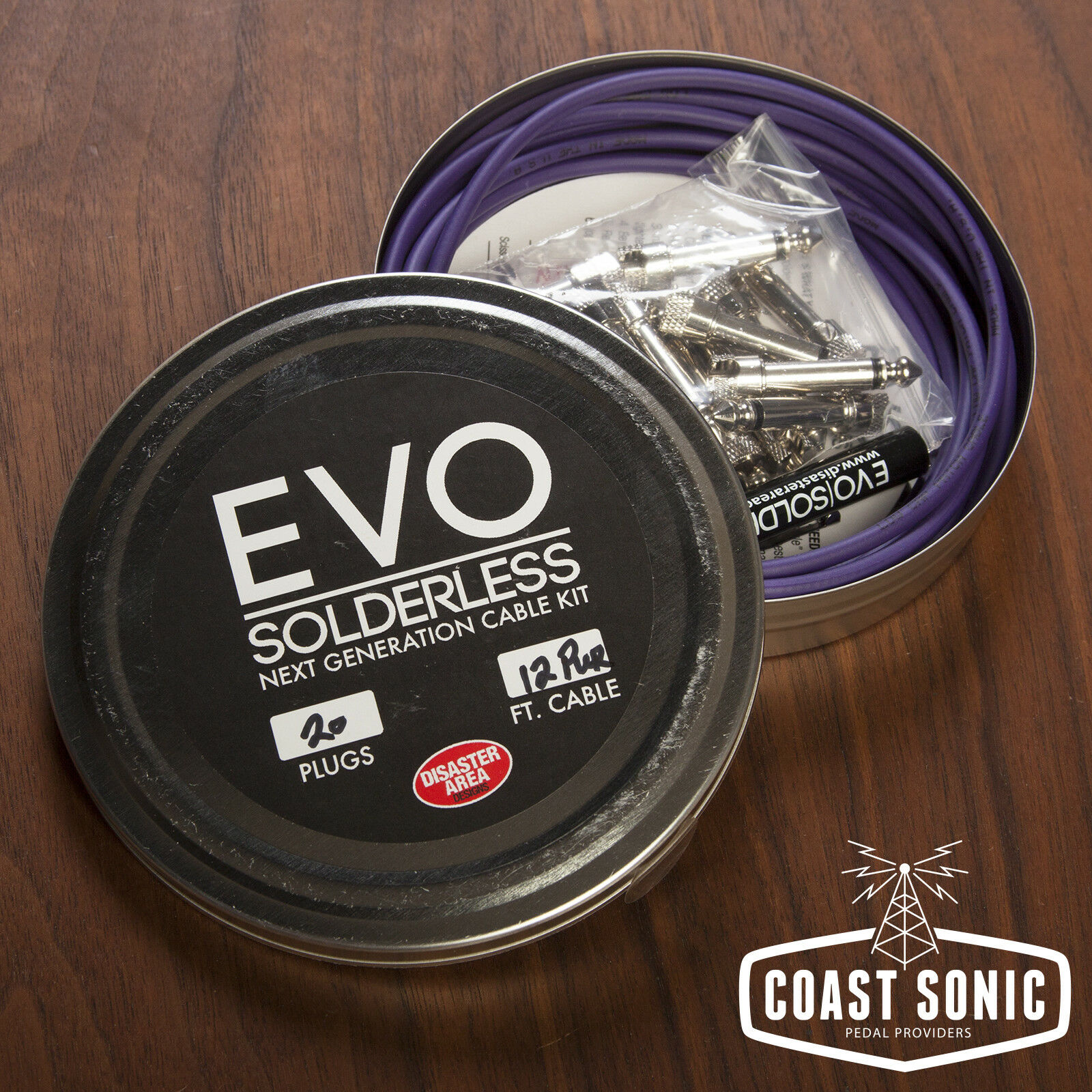 Disaster Area EVO Solderless Cable Kit 20 plugs (lila)