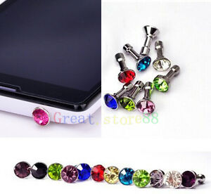 Diamond-3-5MM-Anti-Dust-Plug-Cap-Stopper-Cover-FOR-Apple-iphone-ipod-itouch-AU