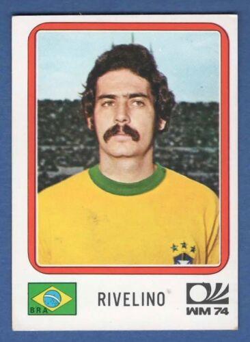 BRASILE N.164 RIVELLINO FIGURINA CALCIATORI PANINI MUNCHEN 74 RECUPERO