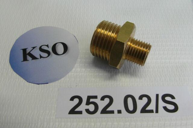 "Doppelnippel 1/4"" - 1/2"" AG Messing Fitting Verbinder Pneumatik Wasser Druckluft"