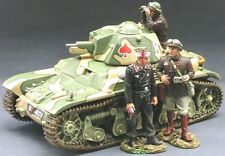 KING & COUNTRY FIELDS OF BATTLE FOB037 FRENCH RENAULT R35 TANK SET MIB