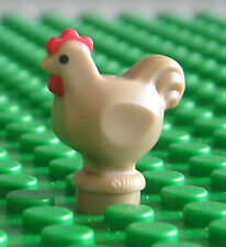 LEGO NEW Chicken Dark Tan - (Rooster Hen Chick Bird Farm Animal) - 95342
