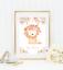 Safari-jungle-animaux-Nursery-Imprime-Set-de-3-Baby-Girl-Room-photos-Wall-Art miniature 8