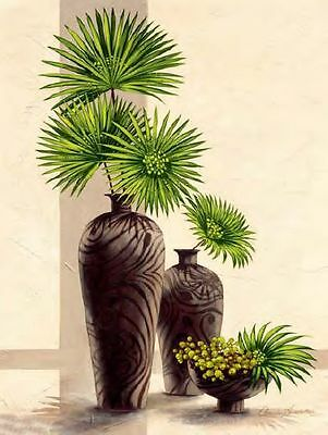 Claudia Ancilotti: Green Horizon Keilrahmen-Bild 50x70 Leinwand Stillleben grün