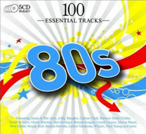 Various-Artists-100-Essential-Hits-of-the-80s-CD-5-discs-2009-Amazing-Value