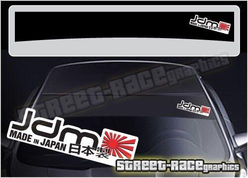 SS5064 JDM /'Made in Japan/' Car sun strip stickers Fits Subaru Honda Nissan