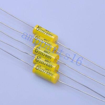 10PCS Capacitor 0.022uF //223J 630V DC Polypropylene Axial Valve Metal Film New
